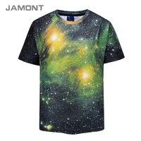2018 Summer Galaxy Starry Sky 3D Print T Shirt Mens Brand T Shirts Men Casual Tops
