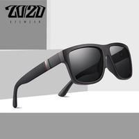 20/20 Ретро брендовый дизайн поляризованных солнцезащитных очков Для мужчин Вождение оттенки мужской Винтаж Квадратные Солнцезащитные очки ...