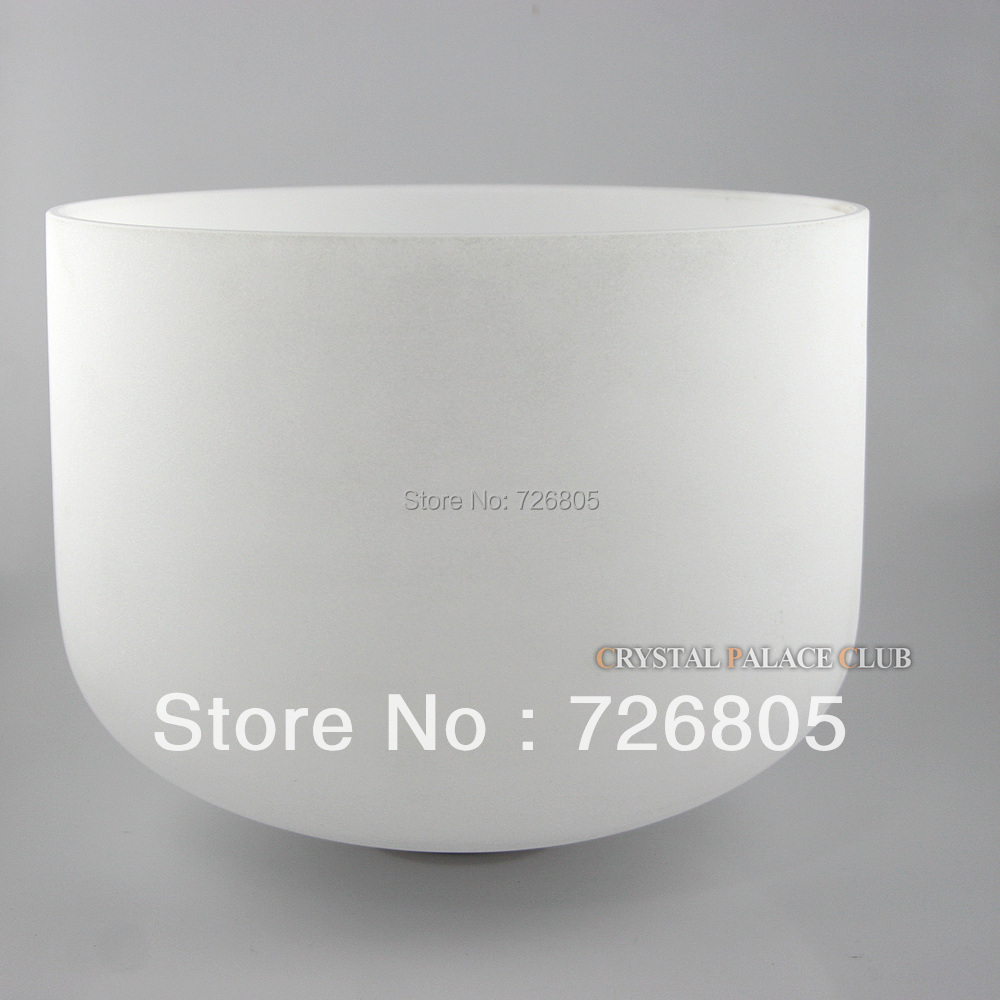 8 white crucible quartz crystal singing bowls with A note third eye or B note crown