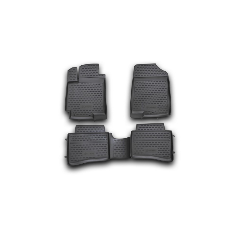 Carpet mats interior For HYUNDAI Solaris, 2010-2014, 4 PCs (polyurethane) цена