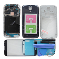 Compelete Habitação Completa Case + Tela de Vidro Para Samsung Galaxy i9500 i9505 S4 i337 Oriente Quadro Ferramentas Adesivo de Vidro Temperado