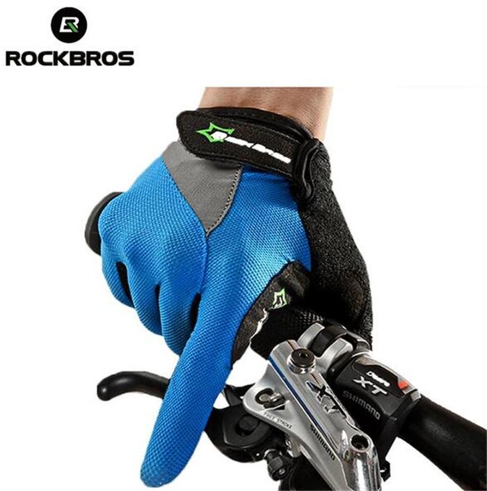RockBros Full Finger Cycling font b Gloves b font Gel Bike Long Texting Touchscreen font b