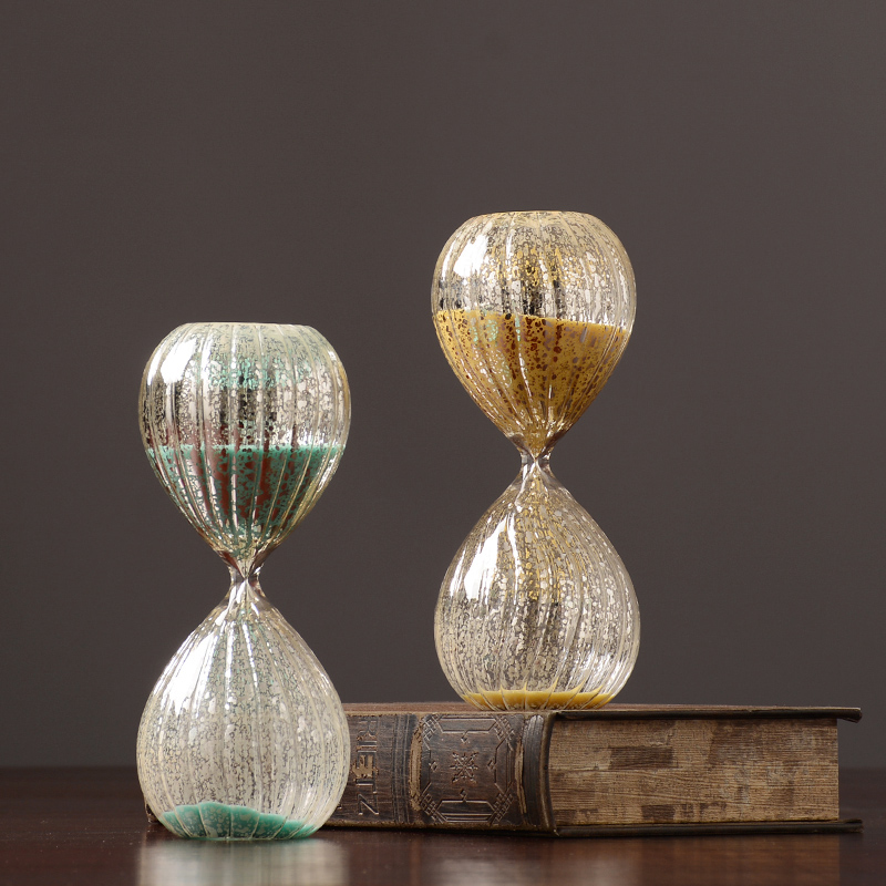 Brief Glass Hourglass Home Wine Cabinet Decoration Ornaments Xuanguang Crafts Colorful Sand Timer Clock Sandglass Creative Gift