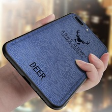 for iPhone 7 Plus 8Plus case silicone edge cute deer pattern leather back cover for iPhone 7 shockproof case for iPhone8 8Plus 7 стоимость