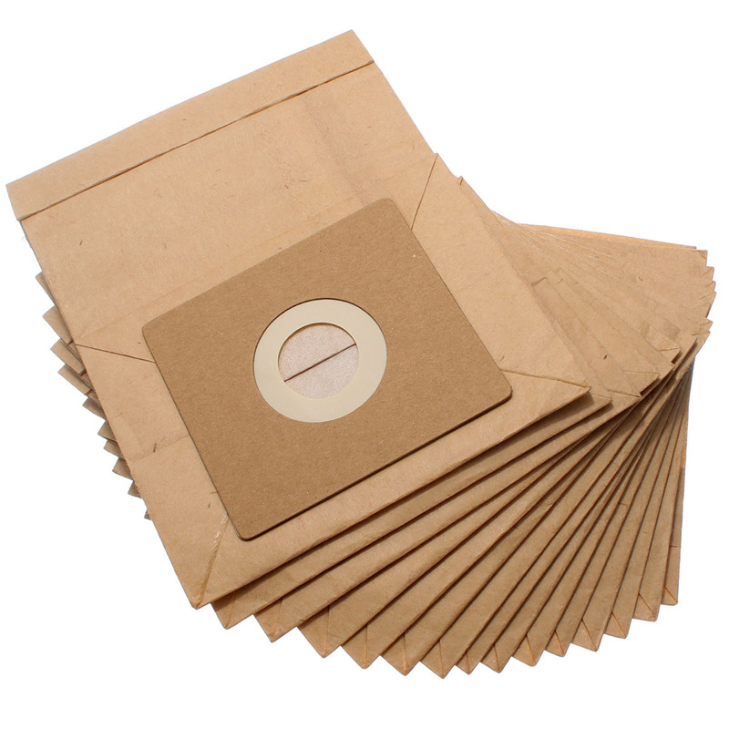 15pcs General Vacuum cleaner dust paper bags 100*110mm Diameter 50mm Vacuum cleaner accessories parts