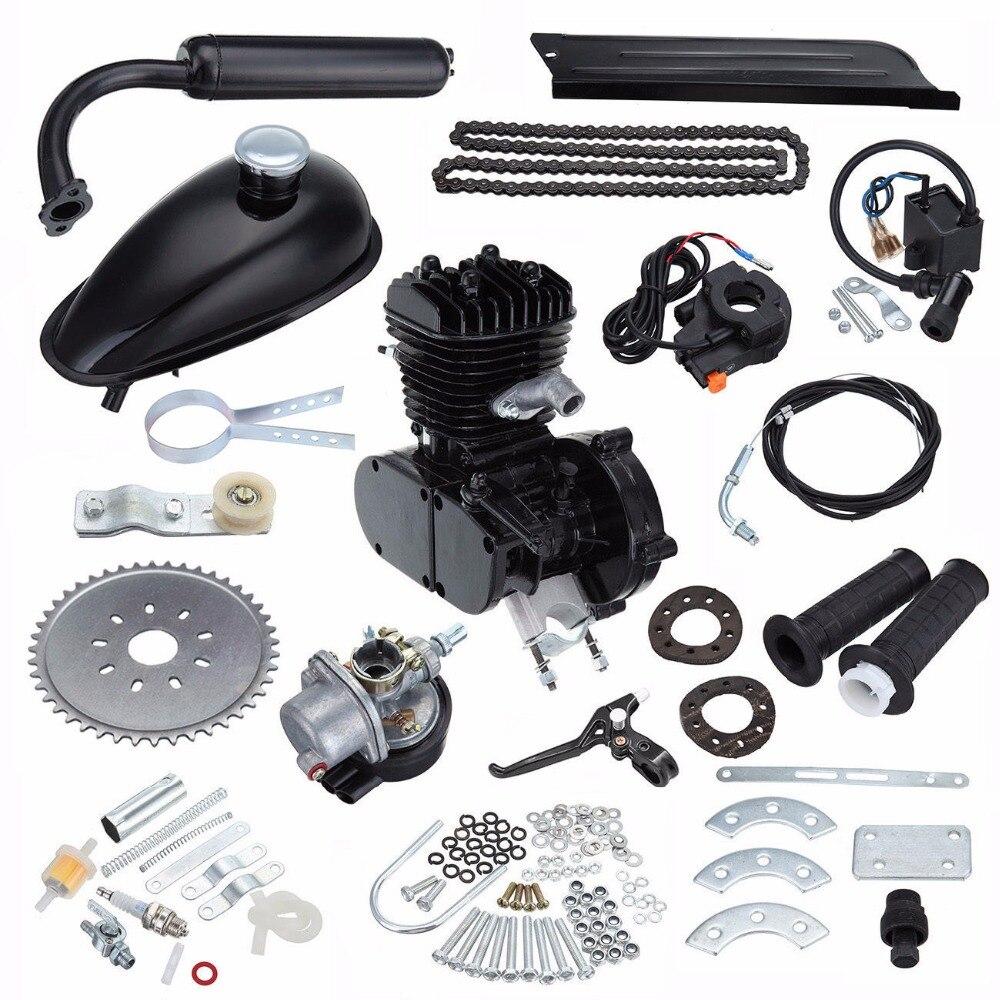 (Корабль из Германии) 80cc газовый велосипед мотор комплект черный 2 тактный велосипед моторный двигатель воздушного охлаждения