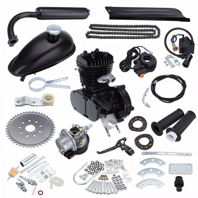 (Navire de l'allemagne) 80cc Kit de moteur de vélo à essence noir 2 temps vélo moteur motorisé refroidissement par Air
