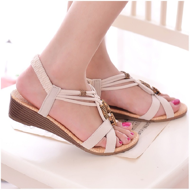 f06ab594e2a63d HAJINK Women Sandals Wedge Shoes Woman Gladiator Summer Sandals Ankle strap  Gladiator Sandals Ladies Shoes Black-in Low Heels from Shoes on  Aliexpress.com ...