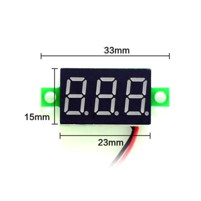 1PC 0.28 Inch Two Lines Mini Voltmeter DC2.5V-30V LED Display Voltage Meter Digital Display Voltmeter,FOUR COLOR OPTIONAL