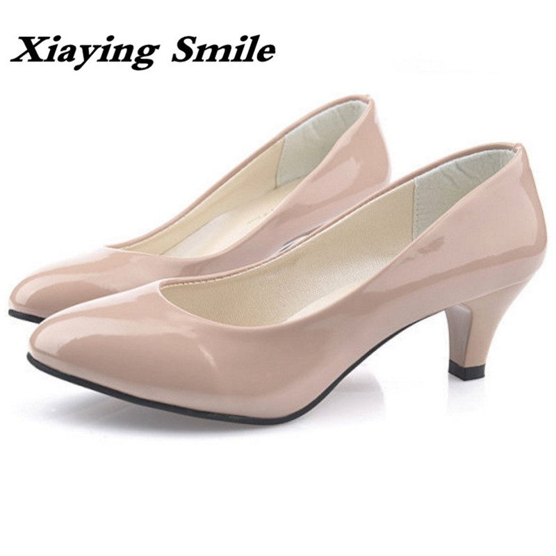 Xiaying Smile Woman Pumps British Shoes Women Thin Heels Style Spring Autumn Fashion Office Lady Slip On Shallow Women Shoes xiaying smile new spring autumn women pumps british style fashion casual lace shoes square heel pointed toe canvas rubber shoes