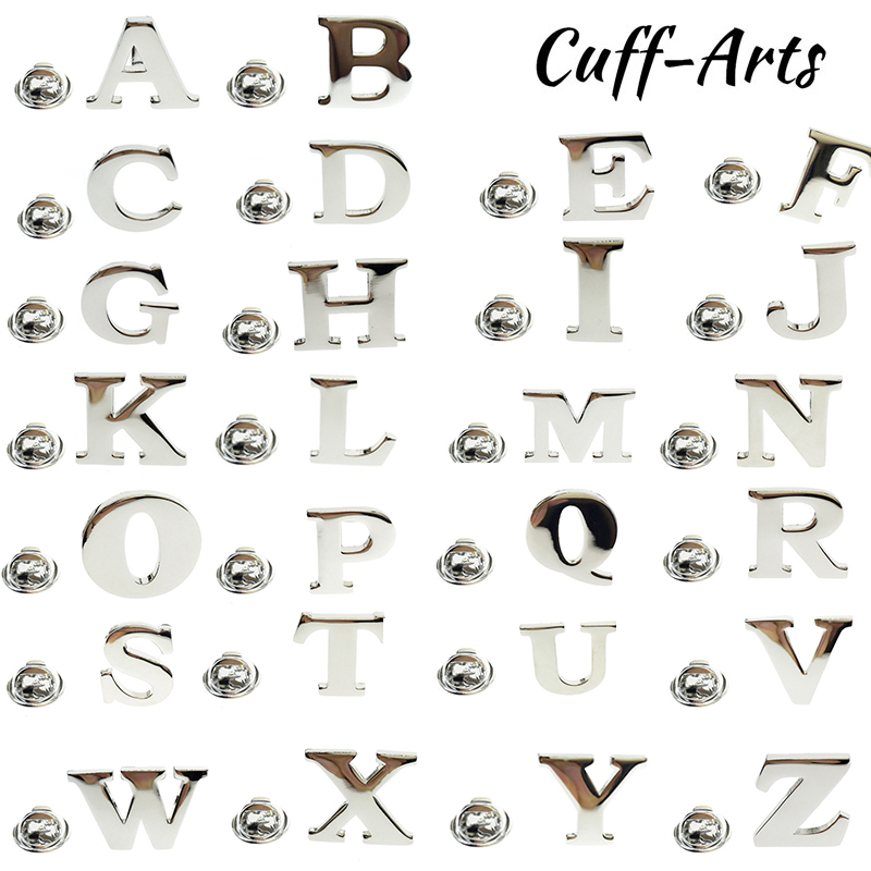 US $2 75 19% OFF|Cuffarts Alphabet Lapel Pin Men 2018 New S to Z Lapel Pin  26 Letters Design Brooches For Men Collar Party Engagement Jewelry-in