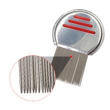 1pcs High Quality Terminator Lice Comb Nit Free Kids Hair Rid Headlice Stainless Steel Metal Teeth Remove Nit Brush Free Ship
