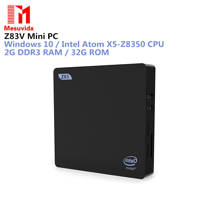 Z83V Mini PC Intel Atom X5-Z8350 Fanless X86 Mini PC LAN USB 2GB RAM 32GB ROM Bluetooth WiFi Thin Client g2 pro win10 mini pc intel z3735f 1 8ghz 32gb storage ddr3l 2gb ram mini desktop page 7