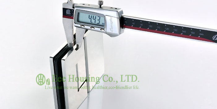 Connecteur en verre d'acier inoxydable, charnière de porte de douche de 180 degrés, charnière de porte en verre de salle de bains, bride en verre finie par Satin, agrafes en verre - 4