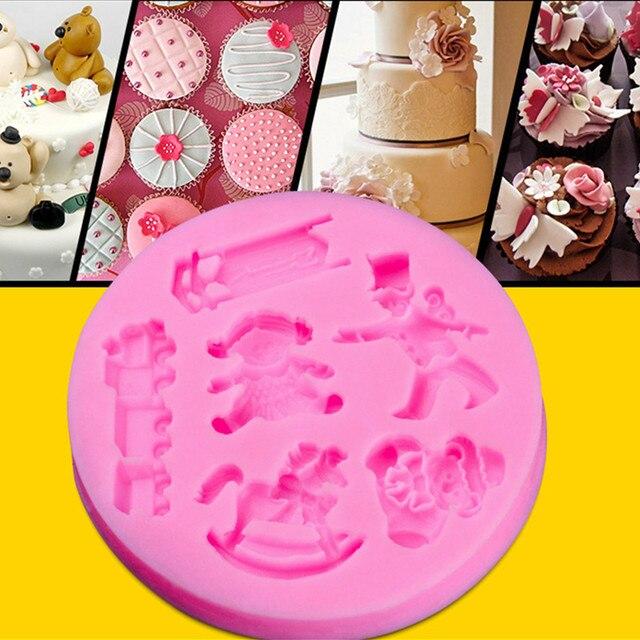 Goedkope Siliconen Taart Decoreren Mallen Kinderen Verjaardag Taart