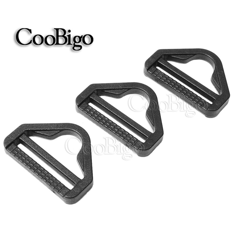 20mm Black Buckles Plastic D Ring For Backpack Straps Bag Garment Webbing Sewing Accessories Let Our Commodities Go To The World Hearty 3/4
