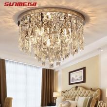 Modern LED Crystal Ceiling Lights For Bedroom Corridor Kitchen Crystal Strip Nordic Ceiling Lamp Industrial Living room Light стоимость