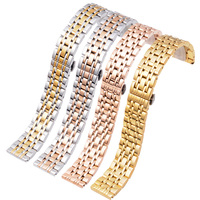 14mm 16mm 18mm 20mm 22mm Watch Bands Solid Stainless Steel Metal Business Replacement Bracelet Strap for AR Men's Women's Watch