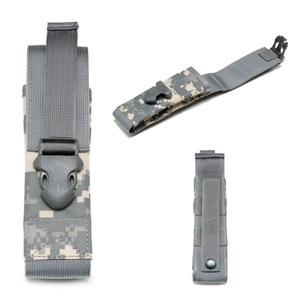 Image 4 - Flashlight Holder Case 1000D Nylon Molle Light Holster Army Tactical Flashlight Pouch For Camping Hiking Hunting