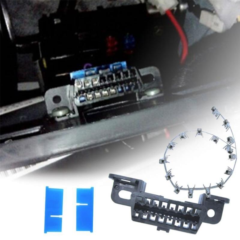 16pin Obd2 Connector OBD2 OBD 2 16Pin Female Connector OBD Female Wire Sockets Connector Obd Ii Adapter Diagnostic Tools