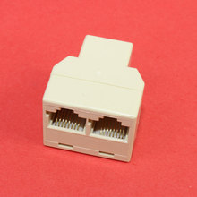 ChengHaoRan Plastic Copper Core 1 To 2 LAN RJ45 Connector Network Cable Splitter Extender Plug Adapter Connector  TL-082