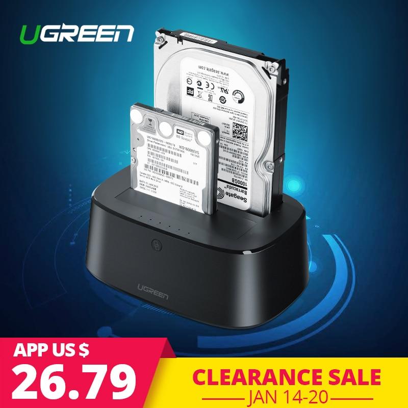 Ugreen HDD Docking Station SATA zu USB 3.0 Adapter für 2,5 3,5 SSD Disk Fall HD Box Dock Festplatte Gehäuse docking Station