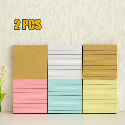 7.5x7.5cm 80 Pages Multi Color Sticky Notes kraft lines Memo Pads Sticker Post It Bookmark Marker Flags Sticker Planner