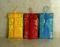 Dragon Pattern Chinese Knot Pendant Wedding Cloth Bag Packets Gift Envelopes