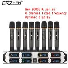 Беспроводной микрофон новый u9000gta2 UHF 8 канал фиксированной частоты + Динамический Экран + КТВ + профессиональный микрофон