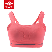 Santic Cycling Base Layers Sleeveless Full Cup Women Underwear Padded Cycling Clothing Push Up Sport Yoga Fitness Bra Pink