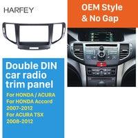 Harfey 2Din Radio Fascia Panel kit for 2010 Honda Accord Europe/Spirior/ACURA SR9 Trim Install Frame Dash Kit Car Stereo Frame