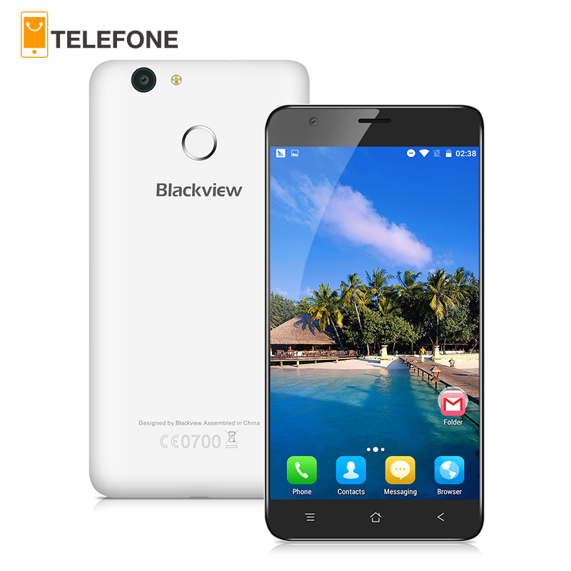 bilder für Blackview E7 Handy 5,5 zoll 1280x720 IPS HD MTK6737 Quad Core Android 6.0 1 GB RAM 16 GB ROM 8MP CAM 4G LTE Fingerprint ID