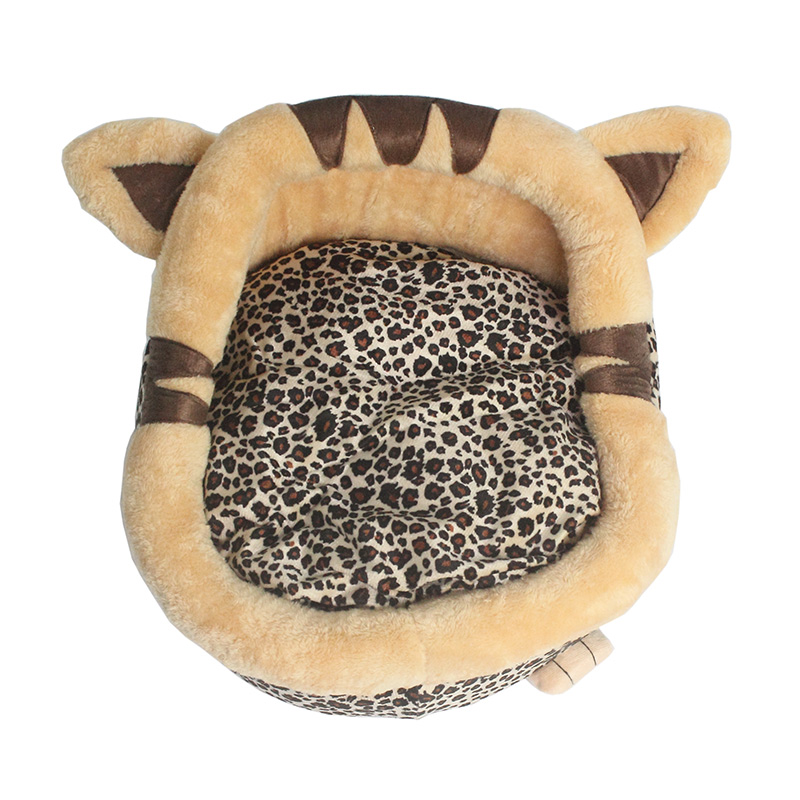 Armi store winter Leopard Teddy Bichon Dog Cat Beds Pet Mats Skid-proof Dogs House 6101006 Puppy Supplies (You can wash)