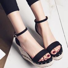 Women Platform High Heels Ankle Strap Sandals