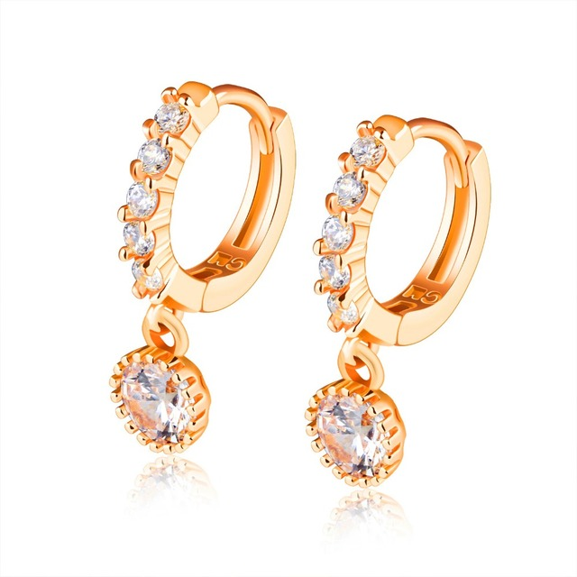 Fate Love Delicate Simulated Crystal Women S Clip On Earrings Bar Setting Gold Color Charm Jewelry