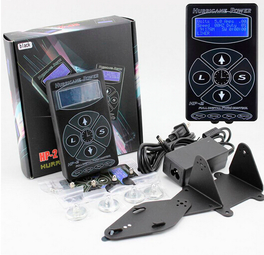Professional Tattoo Power Supply Machines Hurricane HP-2 Powe Supply Digital Dual LCD Display Tattoo Power Supply
