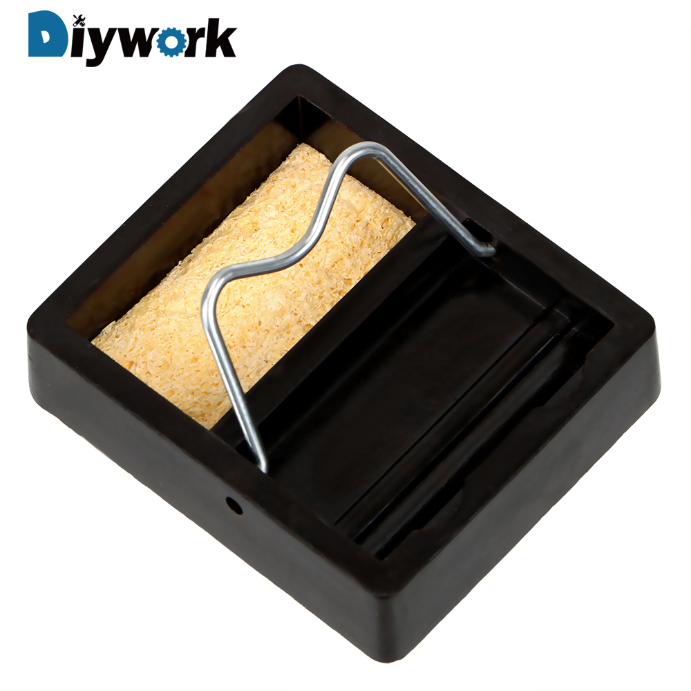 DIYWORK Metal Support Station With Solder Sponge Electric Soldering Iron Stand Holder Small And Simple Soldering Iron Frame цена
