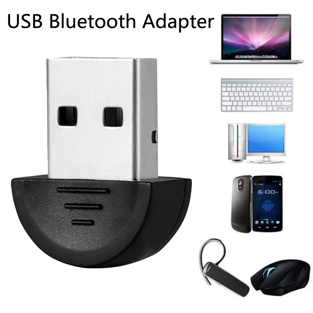 Bluetooth Computer Adapter Mini Wireless USB Bluetooth Dongle V2.0 EDR Dual Mode For Laptop Win7 /8/XP For Bluetooth Devices