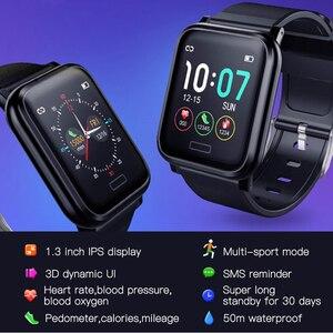 Image 3 - L8STAR B1 inteligentny zegarek ciśnienie krwi tlen Sport 30 dni długi na baterie życie opaska monitorująca aktywność fizyczną opaska do monitorowania stanu zdrowia pulsometr