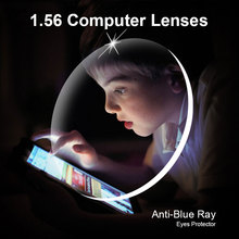 1.56 Anti Blu Ray Prescrizion Optica Ochili Da Vista occhiali Lenti 1 Paia Lenti Montaggio Gratuito con Gli Ochili grado telaio