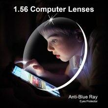 1.56 anti azul ray prescrócos óptics lents 1 par rx abl lents conjunto livre com quadro