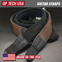 Slimline Strap Standard Leather Connectors Memory Foam Guitar Strap