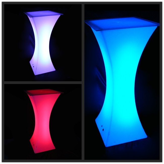 Color changing led bar table/ nightclub/ illuminated led furniture / lighted up led bar table cocktail table led 2pcs/lot стоимость