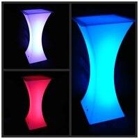 Color changing led bar table/ nightclub/ illuminated led furniture / lighted up led bar table cocktail table led 2pcs/lot
