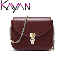 Fashion Brand Girl Falp Gold Lock Chain Bag For Female Genuine Leather Women Shoulder Bag Luxury Style Small Crossbody Bag famous brand solid crossbody bag chain genuine leather small bag ladies handbag single shoulder bag simple clip lock clutch bag