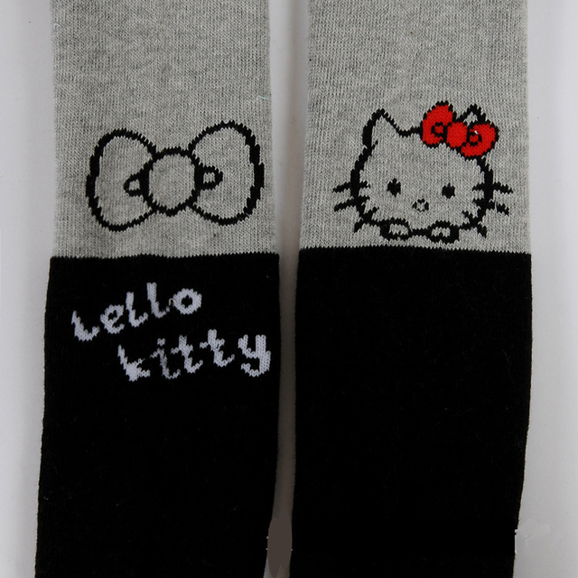 Thickened kids tights for girls child pantyhose leotardos collant fille girl cotton tights cartoon cat printed cotton stockings