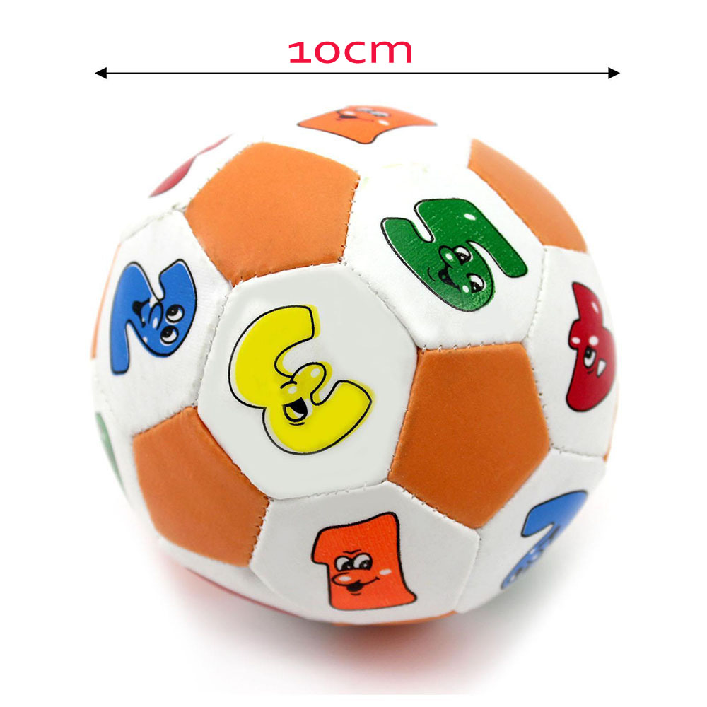 10cm PU Soft ball Baby ball Soccer Ball Sponge Handball Children Kids  Education toys Baby Learning Colors Number Rubber BB Ball-in Toy Balls from  Toys ... 8047e10ccc1c2
