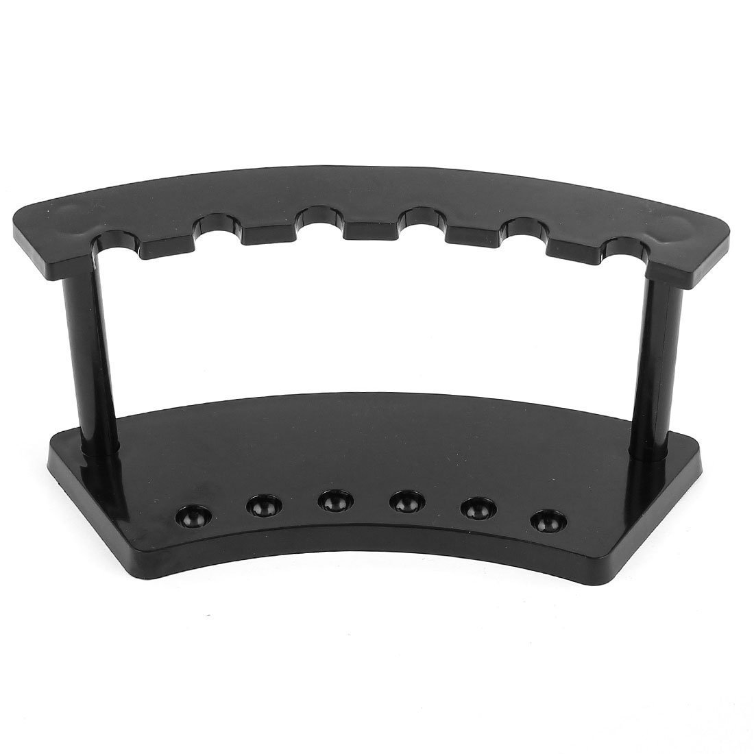 5X Office Desk Black Plastic 6 Position Pen Pencil Holder Stand