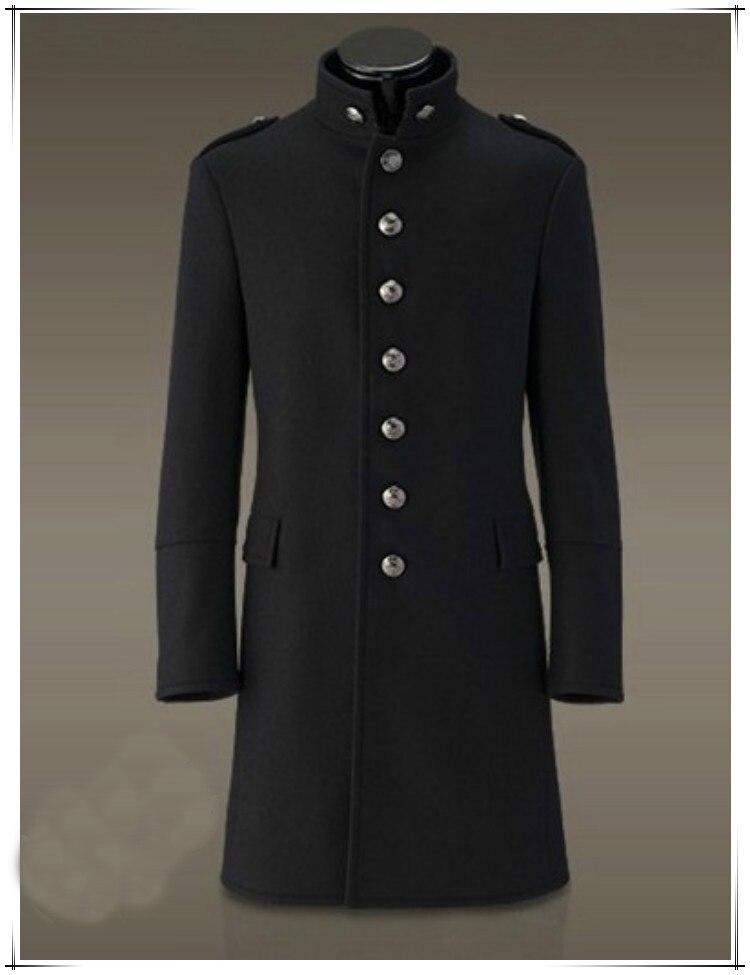 Mantel Jacke Einreiher Trenchcoat Wolle Slim Männer OuTPkZXi