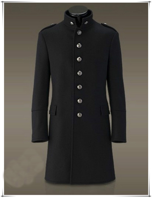 49fde28d9e0b7 2016 Double Breasted Long Trench Coat Men Slim Fit Wool Mens Coats  Overcoats Winter Mens Military